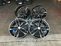 Top Qualité 20 Rs6c Black Edition En Alliage De Style Jantes Fit Audi A4 A6 A8 S Line