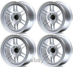 Ultralite F1 15 X 7.5j Et30 4x100 Argent Jantes Rpf1 Style Jr7 Y3140