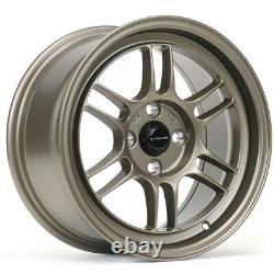 Ultralite F1 15 X 7.5j Et30 4x100 Roues En Alliage De Bronze Plat De Bronze Rpf1 Style Jr7 Y3138