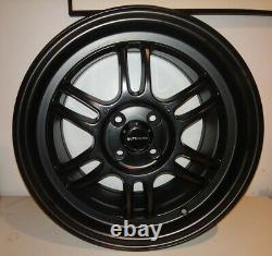 Ultralite F1 16 X 7.0j Et35 4x100 Matt Black Alloy Wheels Rpf1 Style Jr7 Y3173