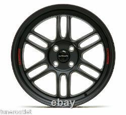 Ultralite F1 17 X 7.5j Et42 4x100 Matt Black Alloy Wheels Rpf1 Style Jr7 Y3173