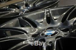 Véritable 19 Bmw Série 3 Mv4 Style 225m Staggered Roues En Alliage 5x120 Remis À Neuf