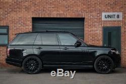 Véritable 22 Range Rover Turbine Roues En Alliage (noir Brillant) Autobiographie Style 7