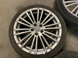 Vw Golf Mk5 R32 Style 18 Roues En Alliage 5x112 + Pneus Golf Caddy Seat Skoda