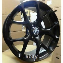 X4 18 Vxr 5x110 Style Alliage Wheels Satin Black Vauxhall Astra Vectra 8j