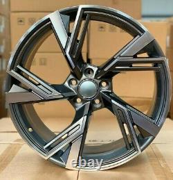 X4 19 Pouces Rs6 2020 Style Alliage Roues Et42 5x112 Audi Tt A3 A4 Vw Golf Caddy