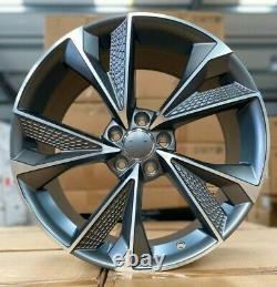 X4 19 Pouces Rs7 2020 Style Alliage Roues Et45 5x112 Audi Tt A3 A4 A6 Vw Golf Caddy