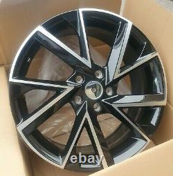 X4 19 Skoda Vega Style Alliage Roues Skoda Octavia Superbe Vw Golf Caddy Noir