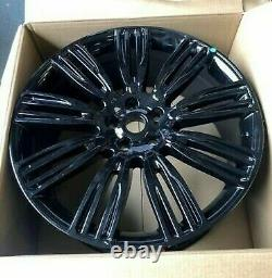 X4 22 Range Rover 9 Style Alliage Roues Vogue Sport Discovery 3-5 Svr Svo Noir