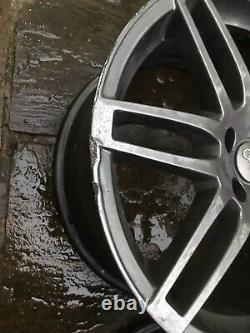 X4 Véritable 18 Pouces Rs4 Style Alliage Roues Audi Tt A3 A4 Vw Golf Caddy Grey